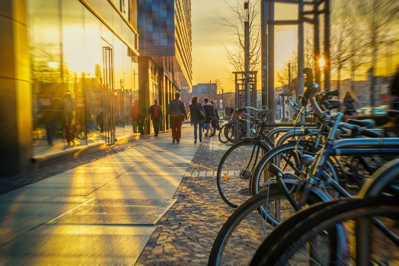Leipzigs Innenstadt im Sonnenlicht
