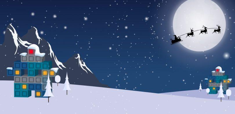 Weihnachtliche Winterlandschaft