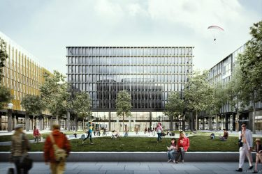 Rendering Immobilie im Quartier Belvedere Central © ZOOM visual project gmbh