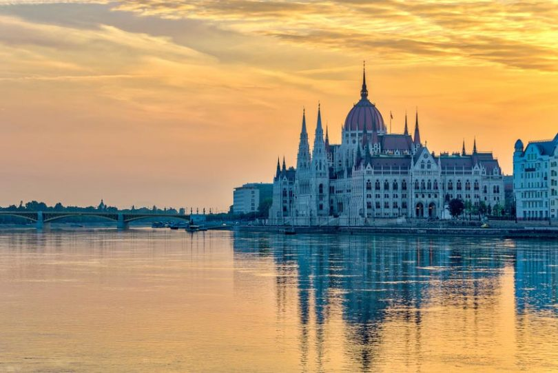 Budapest bei Sonnenaufgang