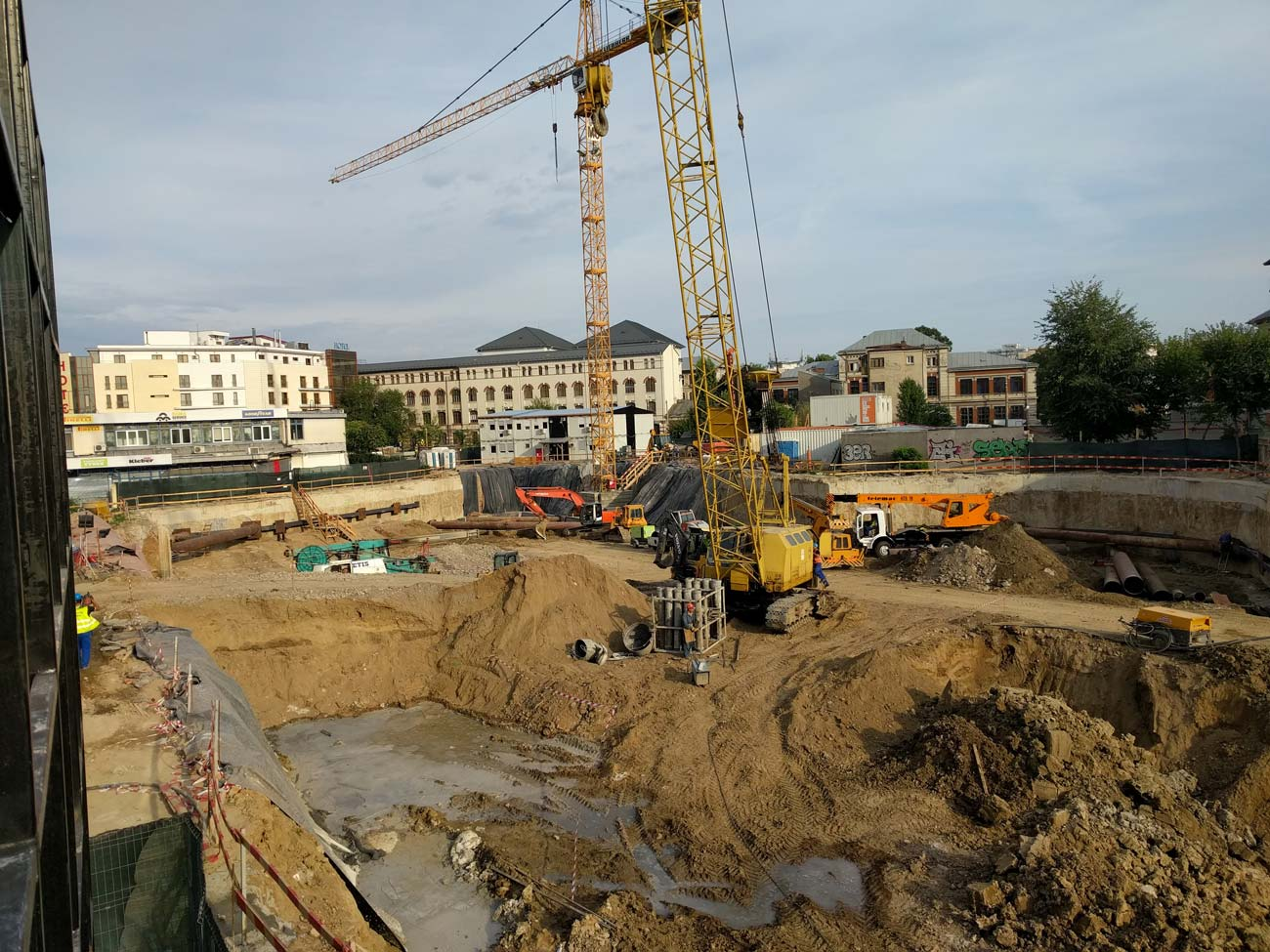 Baugrube Büroprojekt The Mark Bukarest