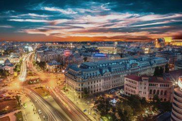 Blick über Bukarest
