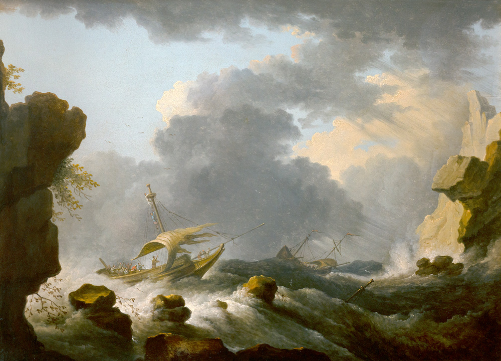 DMW_FragileSchoepfung_Peeters.jpg Bonaventura Peeters, Stürmische See, um 1640 Stiftsmuseum Klosterneuburg, Foto: Stiftsmuseum Klosterneuburg